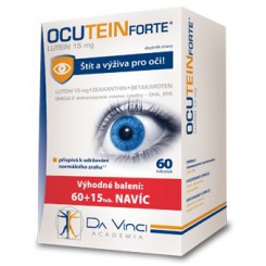 Ocutein Forte Lutein 15 mg 60 tob. + 15 tob. zdarma