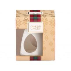 Yankee Candle Vánoční dárková sada Aroma lampa + vonný vosk 4 ks