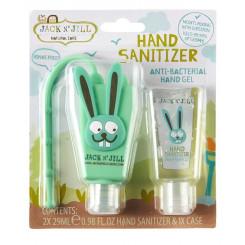 Jack n 'Jill Antibakteriálny gél na ruky pre deti - zajac 2 x 29 ml + púzdro