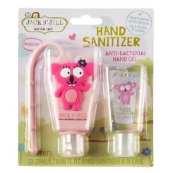 Jack n 'Jill Antibakteriálny gél na ruky pre deti - koala 2 x 29 ml + púzdro