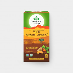 Organic India Tulsi kurkuma-zázvor BIO 25 sáčkov
