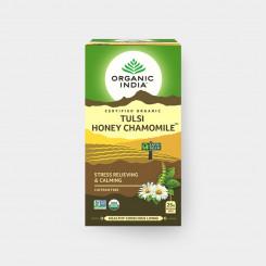 Organic India Tulsi med + harmanček BIO 25 sáčkov