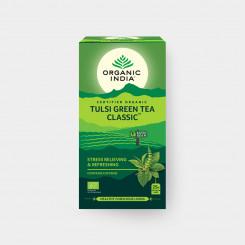 Organic India Tulsi so zeleným čajom BIO 25 sáčkov