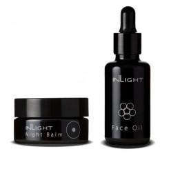 InLight Bio sada Day & Night Bio denný olej na tvár 30 ml a Bio nočný balzam 45 ml