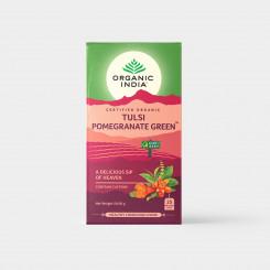 Organic India Tulsi so zeleným čajom a granátovým 25 sáčkov