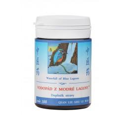 Vodopád z modré laguny